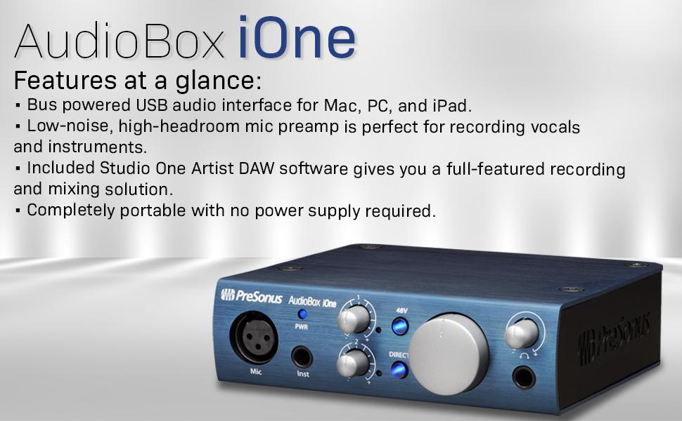 presonus audiobox i0ne