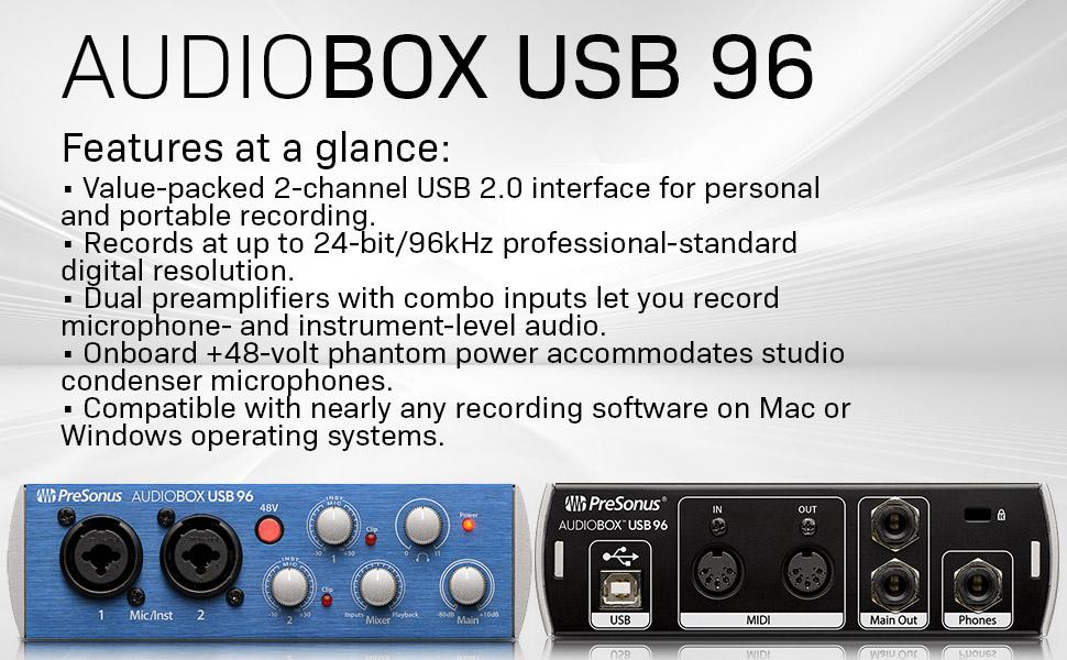 presonus audibox usb 96