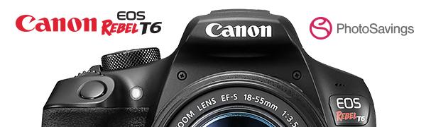 canon cannon rebel eos t6 digital camera