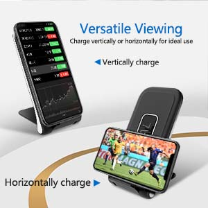 BIAL wireless charger can vertically or horizontally charging your phone