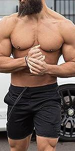 Mesh workout shorts