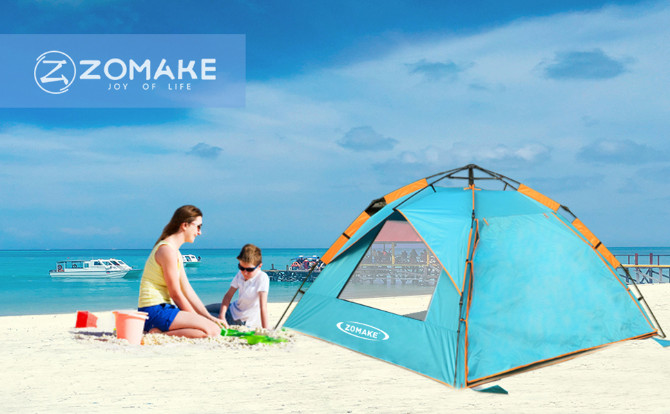 Amazon Com Zomake Pop Up Beach Tent Instant Sun Shelter