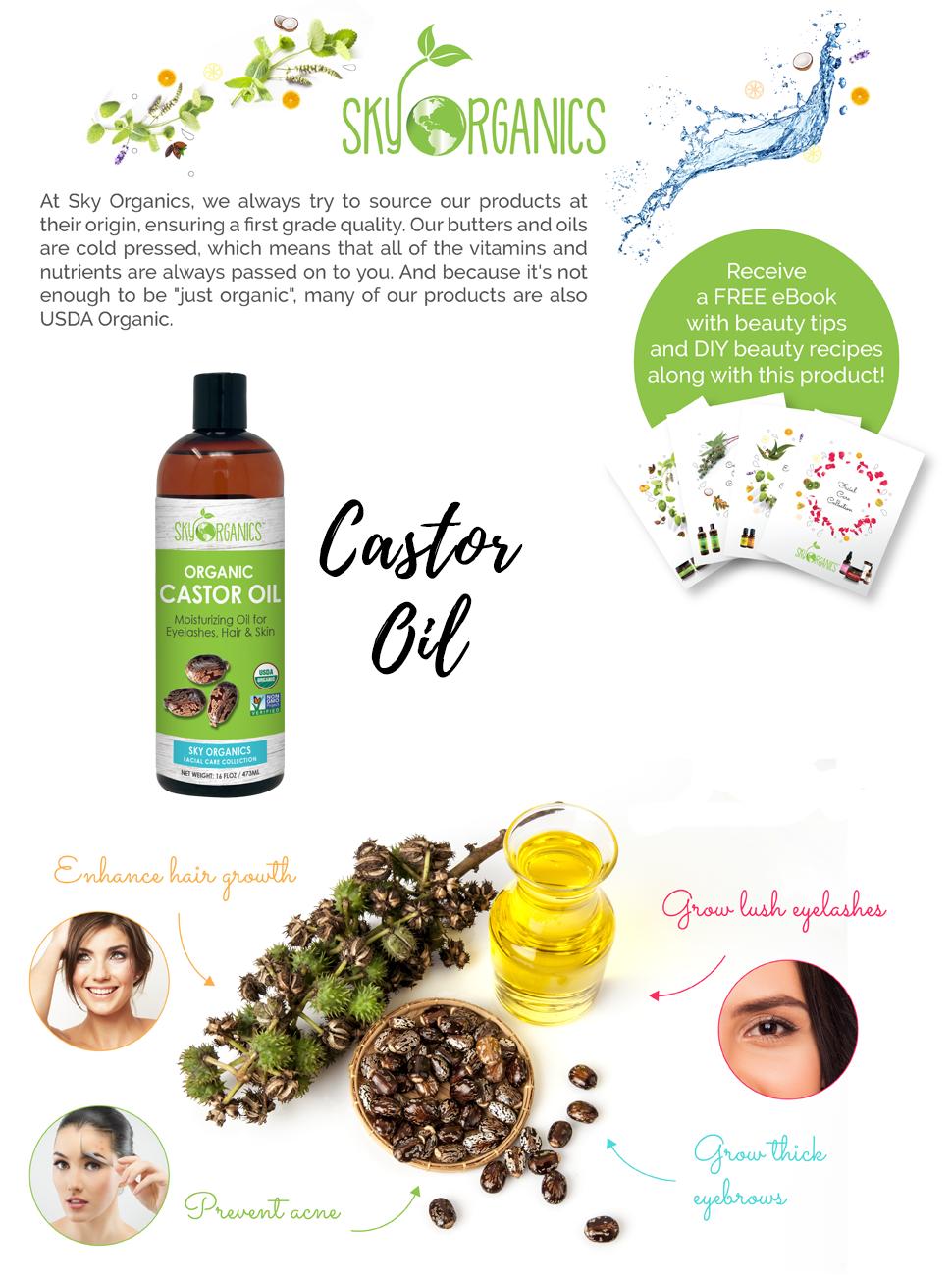castor oil, organic castor oil, eyelash growth, hair growth, hair oil