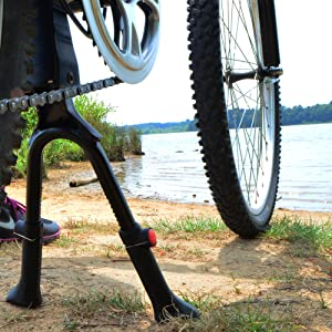 Stable Iron Double Leg Mount Stand Bike Bicycle Kickstand Kick Stand