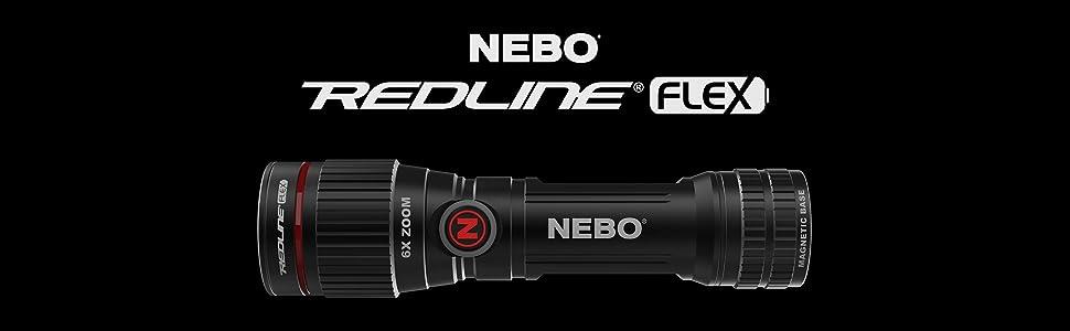 flex power magnetic water resistant flashlight NEBO 6700 Redline Flex 250 lumen