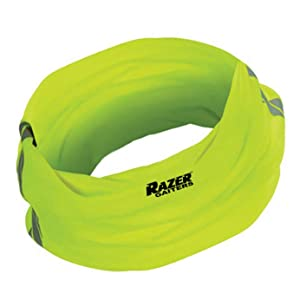 Reflective Stripe Trail Running Gaiters Large Neon Green Ankle Gaiters