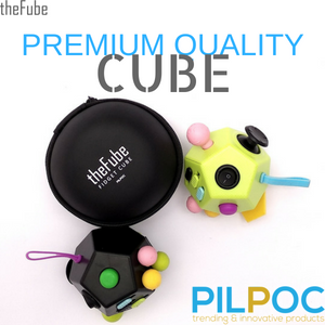 PILPOC theFube Fidget Cube Premium Quality Dice 12 sides Dodecagon Protective Case Stress Relief Toy