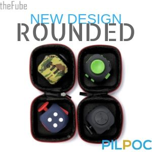 PILPOC theFube Fidget Cube Premium Quality Toy Ball Protective Case Stress Relief Anxiety ADHD