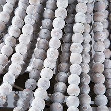 White washed wooden beads