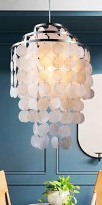Capiz Seashell Pendant Lamp