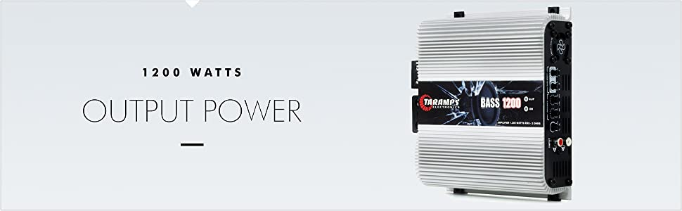 1200 Watts Output Power