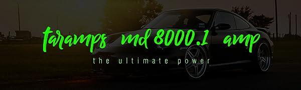 Taramps MD 8000.1 1 Ohm 8000 Watts Class D Full Range Mono Amplifier