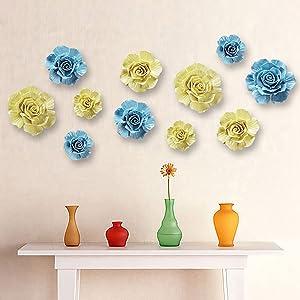 Handmade Ceramic Flower Set