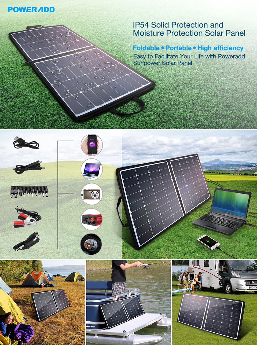 Poweradd 100w Solar Charger 18v 12v Sunpower Simplelm317solarchargerv10schematic Panel Facilitate Your Life