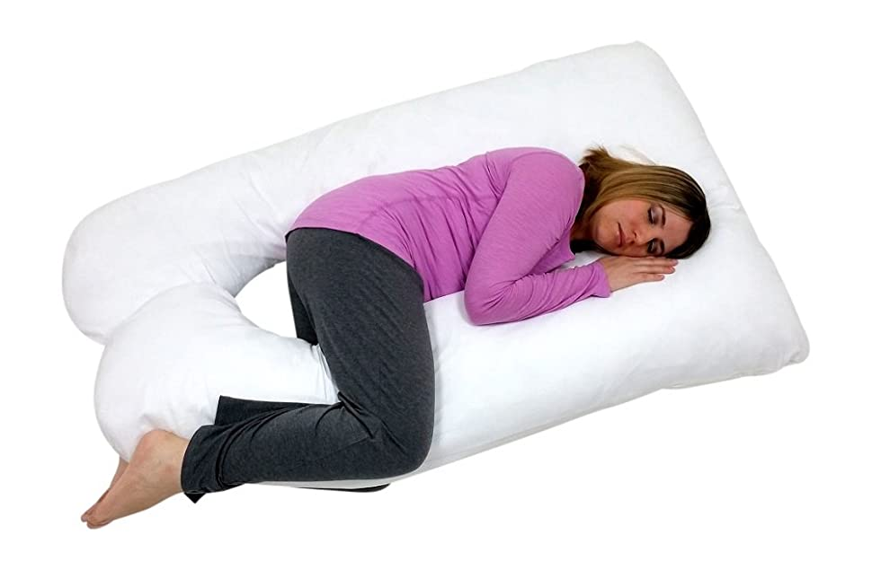 u shaped pregnancy pillow Amazon.com: Web Linens Inc U Shaped Premium Contoured Body  u shaped pregnancy pillow