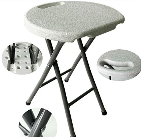 Heavy Duty - Light Weight - Metal and White Plastic Folding Stool - 400lb Capacity  sc 1 st  Amazon.com & Amazon.com: Heavy Duty - Light Weight - Metal and White Plastic ... islam-shia.org