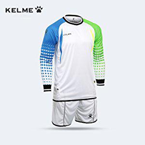 KELME Football Goalkeeper Long-Sleeve Suit Soccer Jersey Set