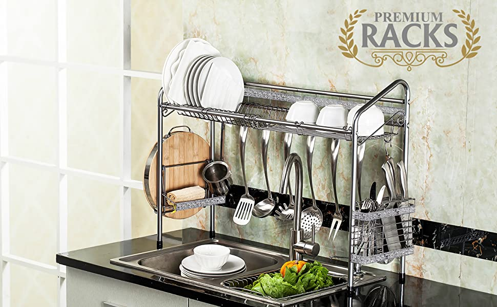 Peachy Premiumracks Professional Over The Sink Dish Rack Fully Customizable Multipurpose Large Capacity Caraccident5 Cool Chair Designs And Ideas Caraccident5Info