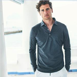COOFANDY Men's Long Sleeve Polo Shirt