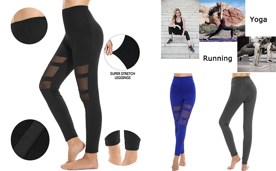 Amazon.com: Zeagoo Leggings pantalones de yoga para mujer ...