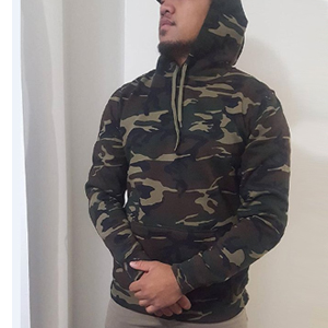 COOFANDY Mens Camo Pullover Hoodie Camouflage Hooded Sweatshirts with  Zipper Pocket dfd9976505f