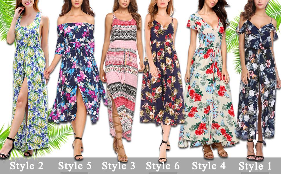 0b48f2af45e Amazon.com  Zeagoo Women Floral Romper Maxi Dress Cold Shoulder ...