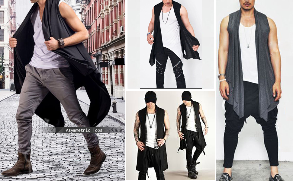 RRINSINS Men Shawl Collar Plaid Cardigan Lightweight Cotton Length Drape Cape Cardigan