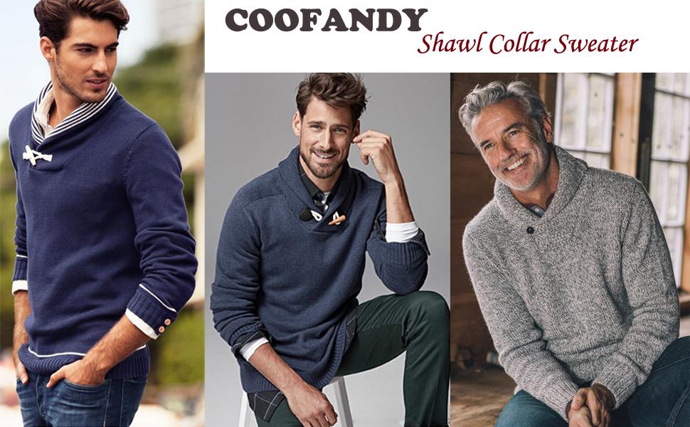 COOFANDY Mens Crew Neck Jumper Slim Fit Lightweight Knitted Cotton Sweater