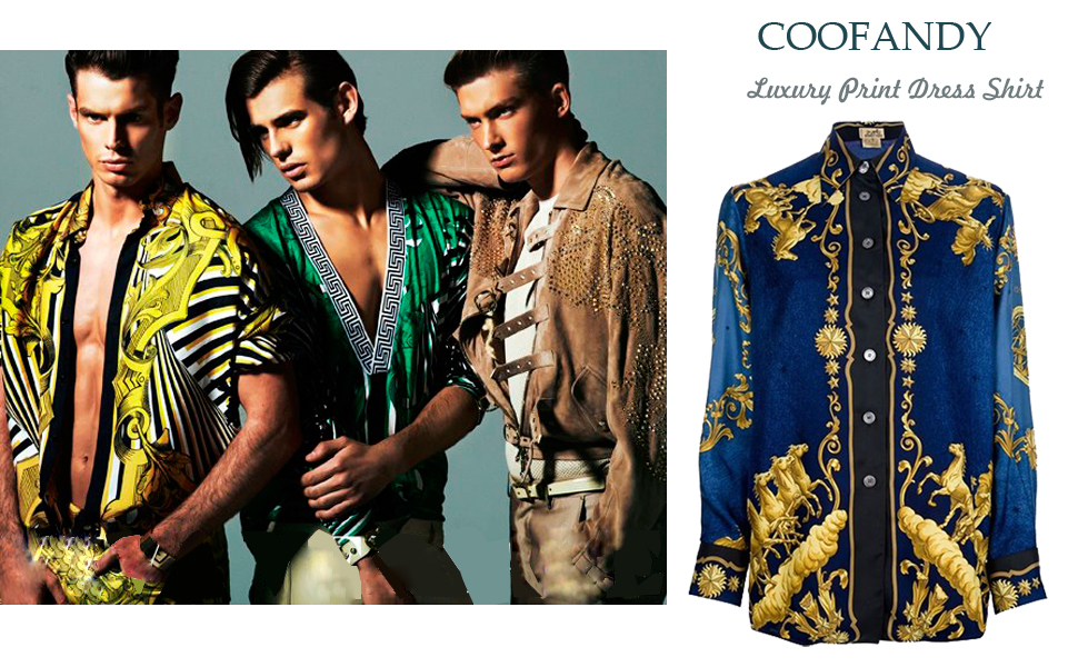 COOFANDY MEN'S LUXURY DESIGNER SHIRT