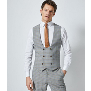 COOFANDY Mens Double Breasted Suit Vest Slim Fit Business
