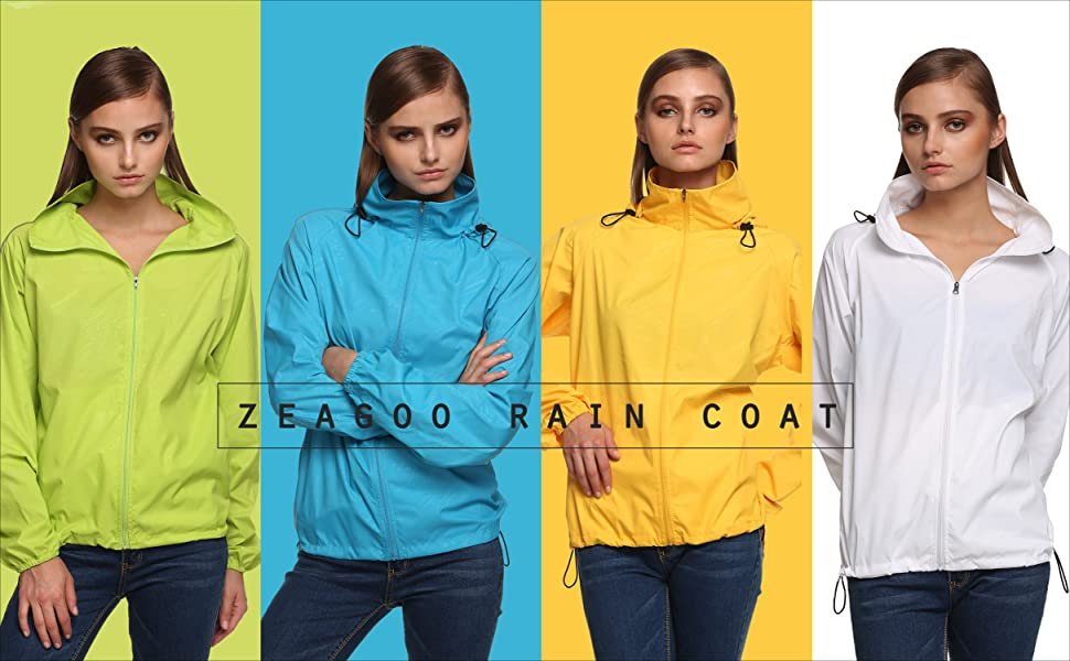 Zeagoo Lightweight Rainwear jacket