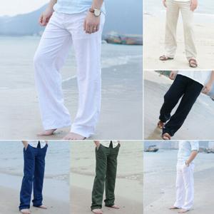 Men beach linen pants