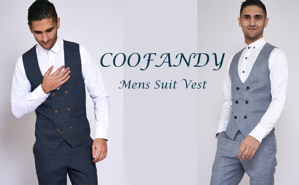 Coofandy Mens Double Breasted Suit Vest Slim Fit Business Formal Wedding Dress Waistcoat At Amazon Men S Clothing Store,Womens Semi Formal Dresses For Wedding