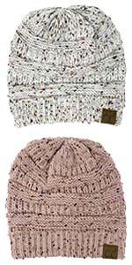 gorros de invierno mujer metallic oatmeal classic cc beanie head scarf wrap band earband sock hat