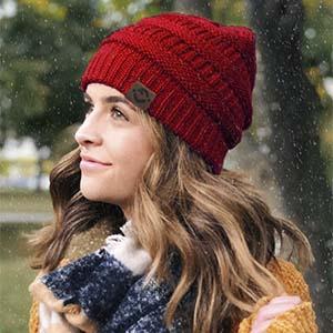 Funky Junque FJ Knit Cap Women's/Men's Winter Hat Soft Slightly Slouchy  Beanie