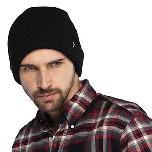 Funky Junque Mens Beanie Slouchy Ribbed Knit Skull Cap Soft Warm Winter Hat
