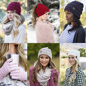 90b8656fd61ac5 aHS-6800-816.07 Regular Slouchy Beanie Matching Scarf Set Bundle ...