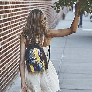 fanny pack festival rave magic sequin flip reverse metallic clutch mini  backpack clear transparent c4a56c9092