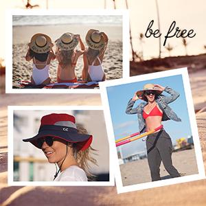 sun hat ponytail embroidered wide brim upf uv ray protection beach floppy straw urban streetwear
