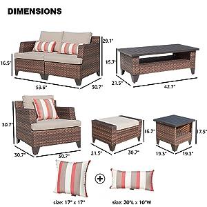 Amazon.com: Sunsitt - Juego de sofás de mimbre para ...