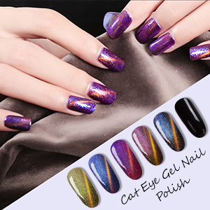 Amazon Com Cat Eyes Gel Magnetic Chameleon Gel Nail Polish Soak Off Uv Led Nail Polish 6