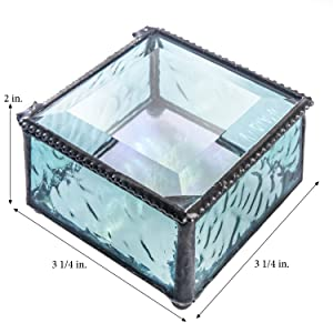 unique home decor teen girl bedroom vanity bathroom ring necklace jewelry decorative glass box