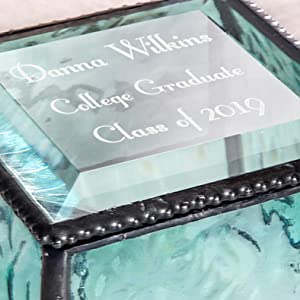 college high school middle school grad gift class of 2019 customize personalize j devlin glass art