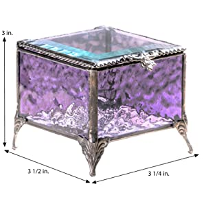 J devlin glass art stained glass gifts purple accents uncharted visions treasure glass box