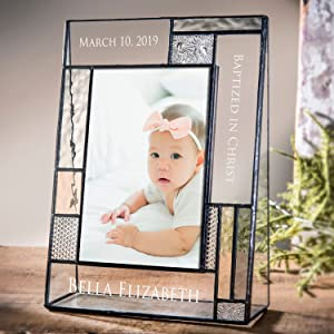 personalized baby baptism picture frame