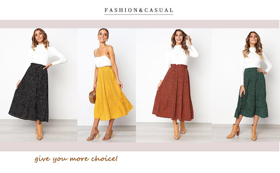 midi skirt for women