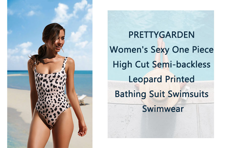 65acff32ff694 Womens Monokini Swimsuits High Cut Low Back One Piece Swimwear Bathing Suits