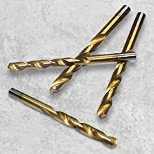 Basic Cellphone Cases CZMY 99pcs//Set Titanium Coated Drill Bits High Speed Steel HSS Drill Bit Set Tool 1.5mm-10mm for Power Tools Drill Bits