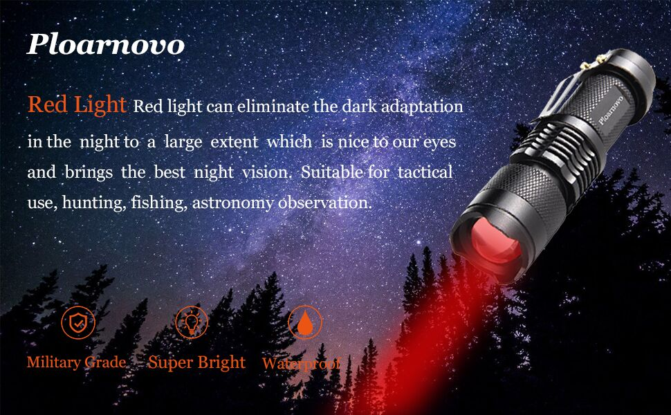 Top 10 Red LED Flashlights for Night Vision Reviews 2019-2020 cover image