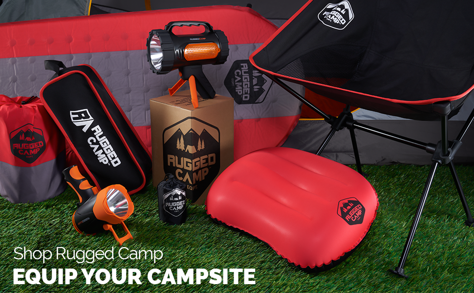 rugged camp outdoor equipment